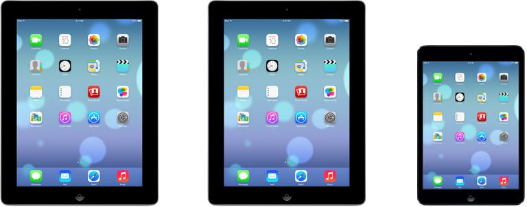 iOS 7 en iPad