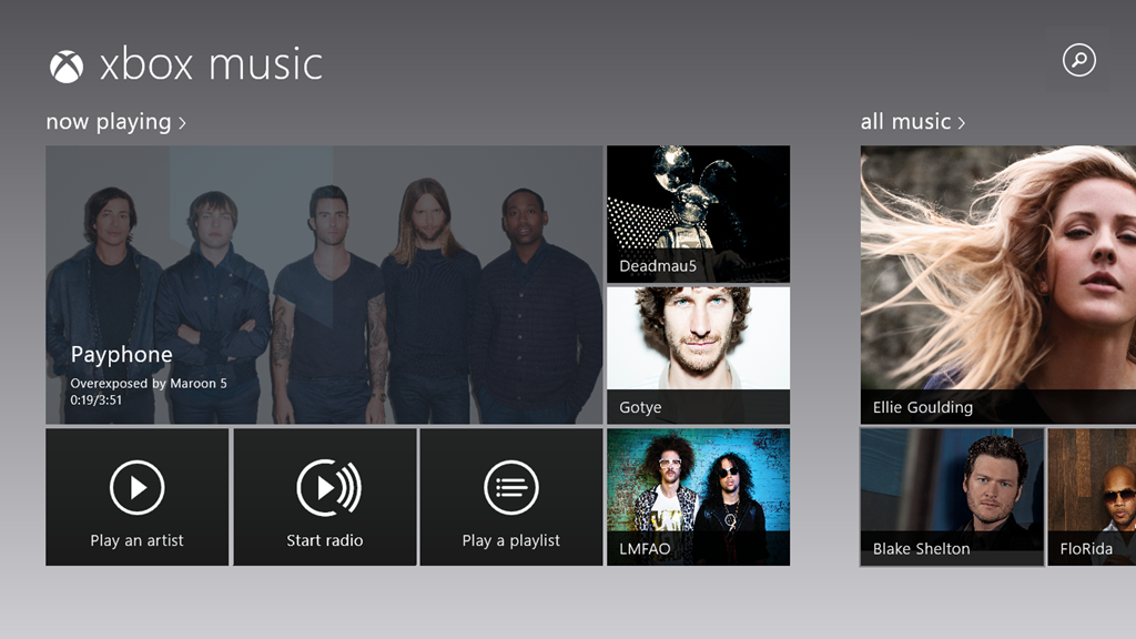 Xbox Music en Windows 8