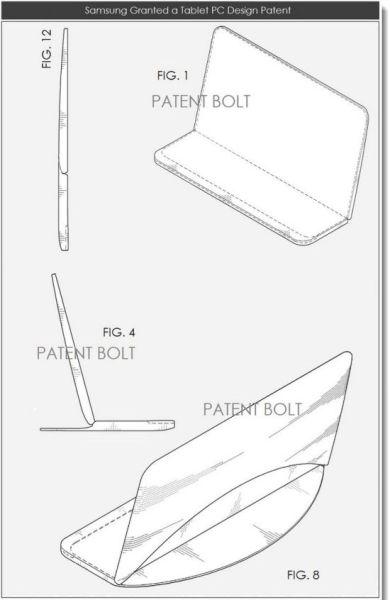 Patente de pantalla flexible para tablet