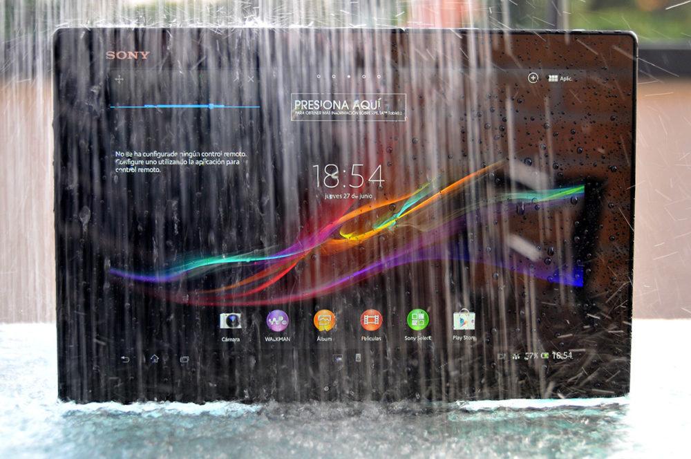Sony Xperia Z a remojo