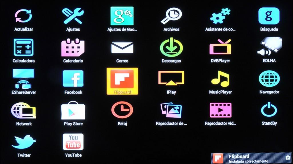 Lista de aplicaciones
