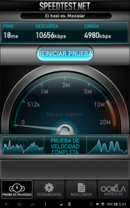 Sony Xperia Tablet Z: Velocidad Wi-Fi