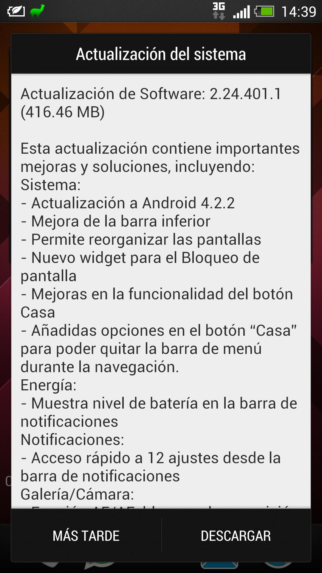 Actualización 4.2.2 para HTC One