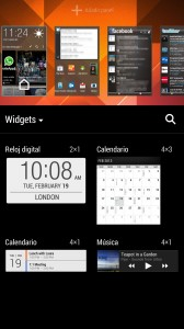 HTC One widgets
