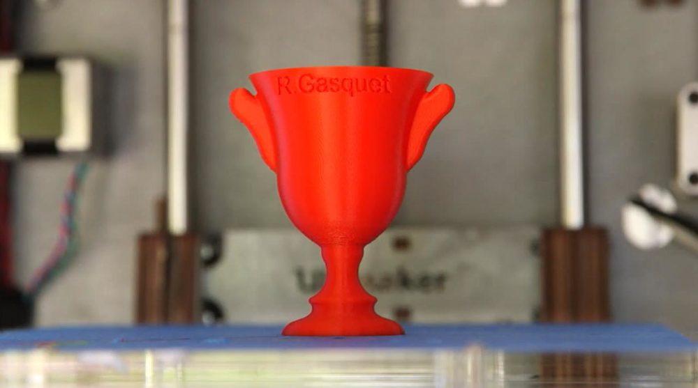 Trofeo Wimbledon fabricado en 3D por IBM