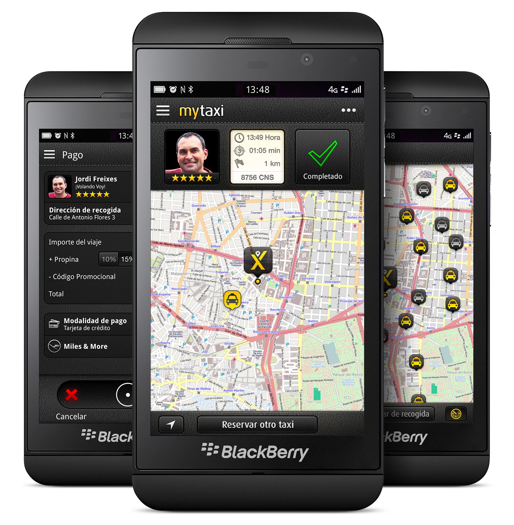 mytaxi blackberry lanzamiento