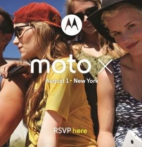 Invitación Motorola Moto X