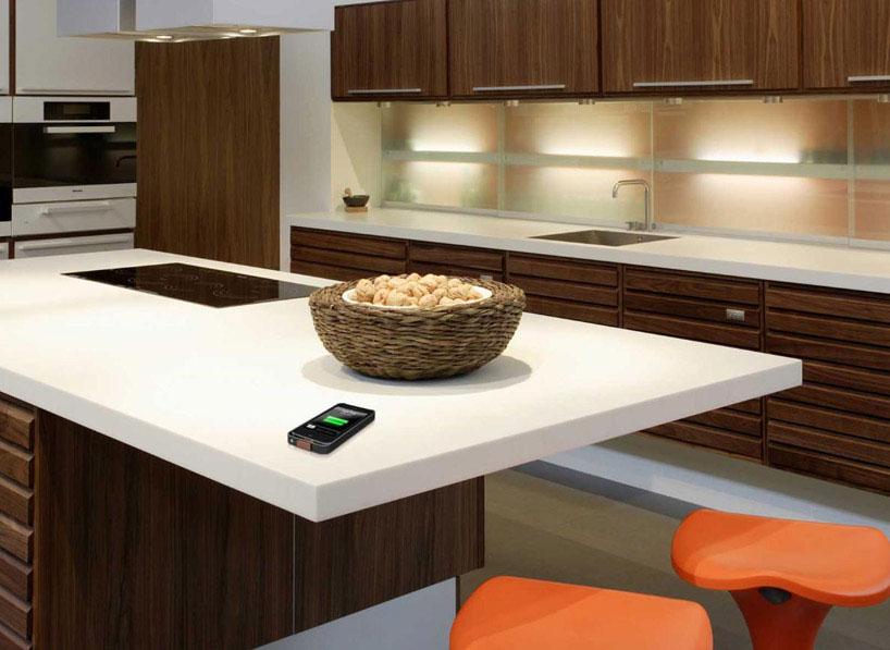 Carga inalámbrica en encimeras de cocina