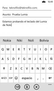 Teclado Lumia 925
