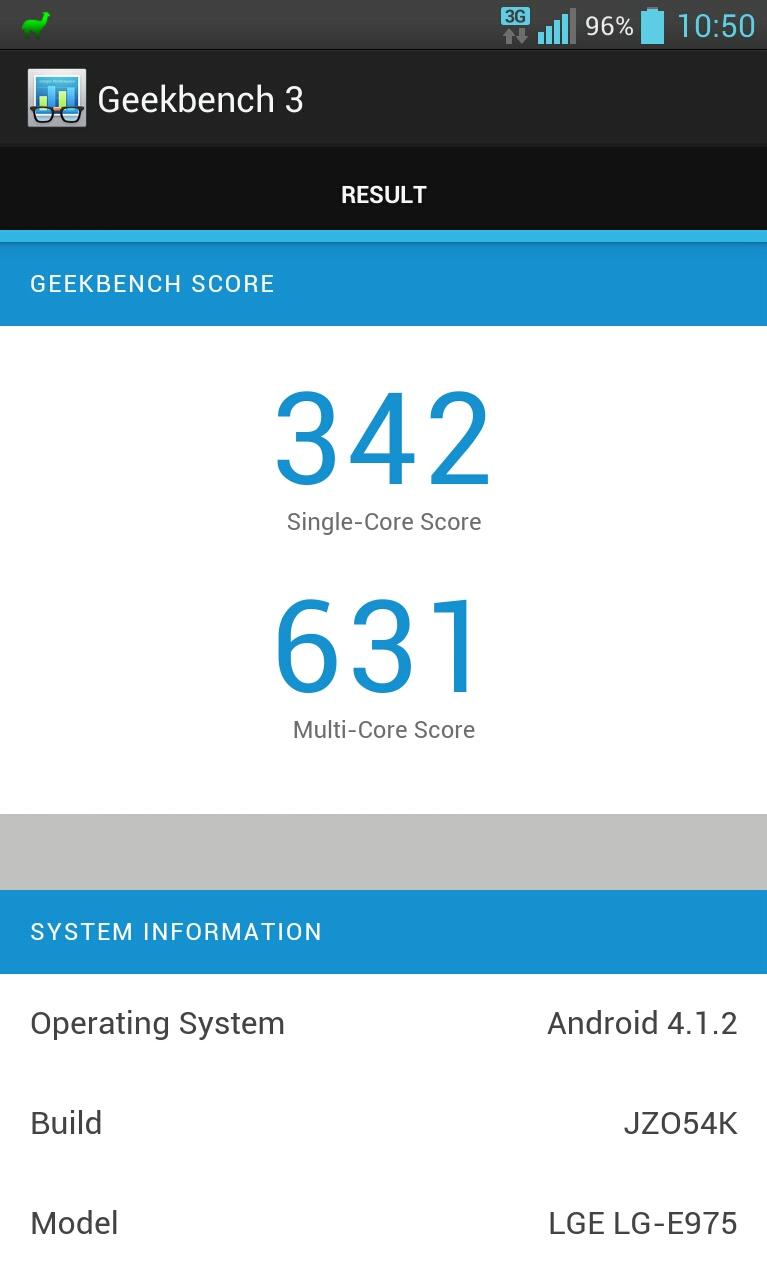 Resultados Geekbench 3
