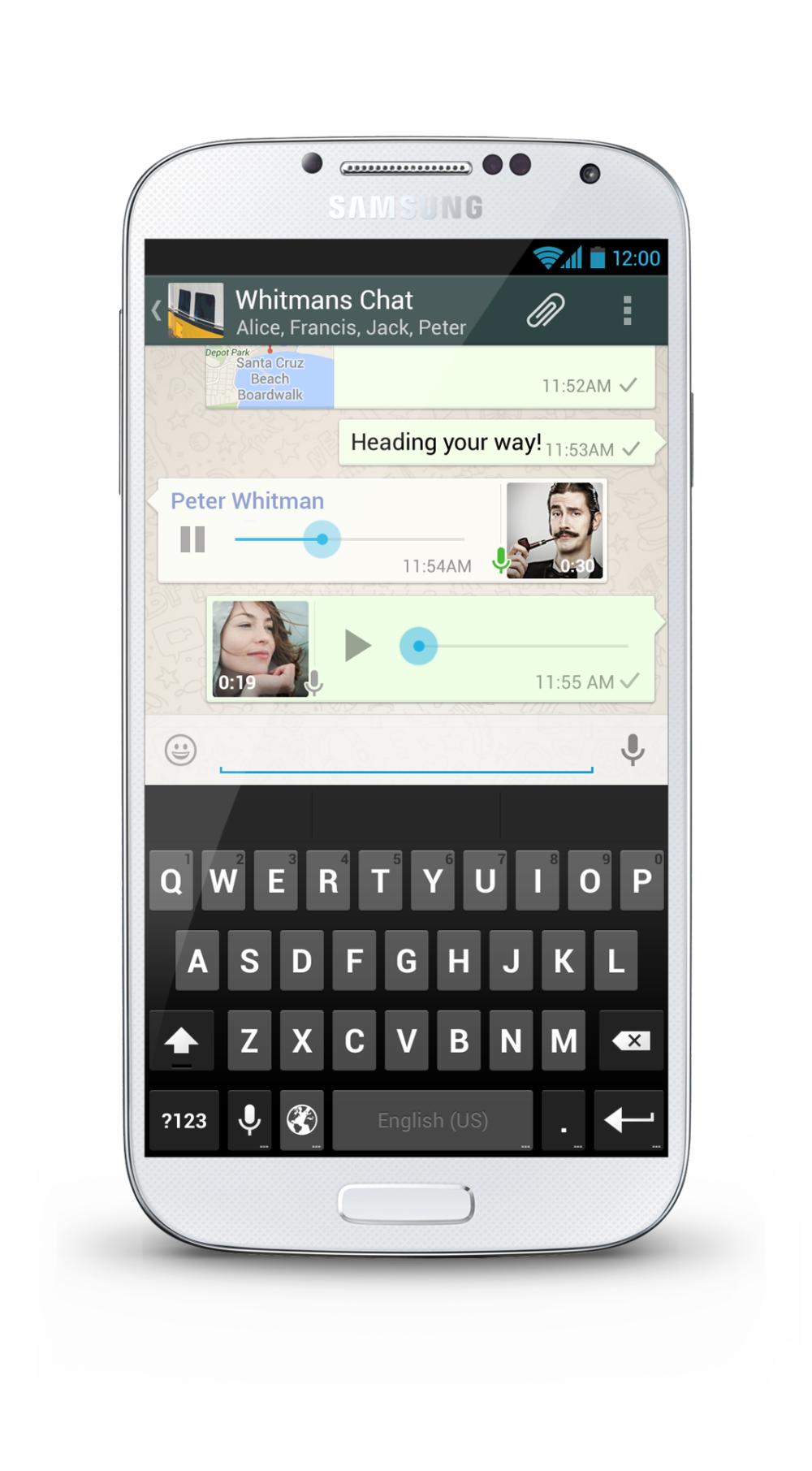 WhatsApp con voz