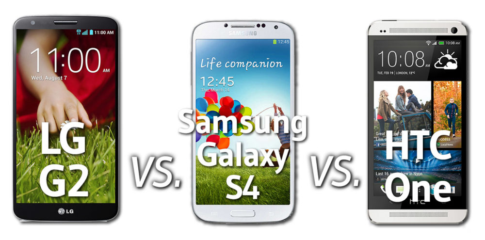 LG G2 vs Samsung Galaxy S4 vs HTC One