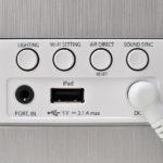 Controles traseros del LG ND8630