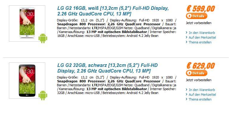 LG G2 a la venta