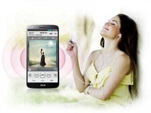 Sonido alta fidelidad en LG G2