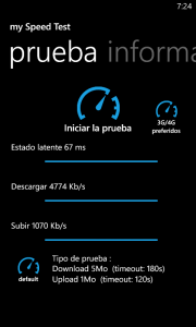 Prueba velocidad 3G