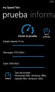 Prueba velocidad WiFi