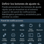 Panel desplegable del Galaxy S4
