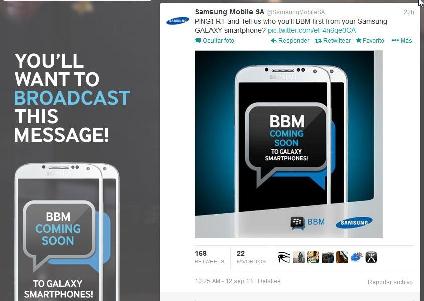 BBM en Samsung