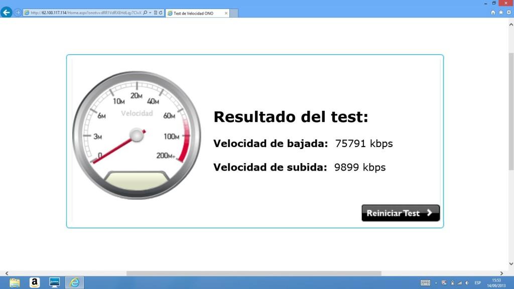 Test velocidad ONO