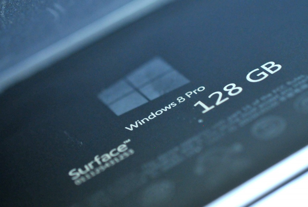 Microsoft Surface Pro - inscripcion