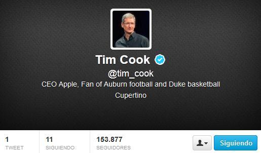 Tim Cook en twitter