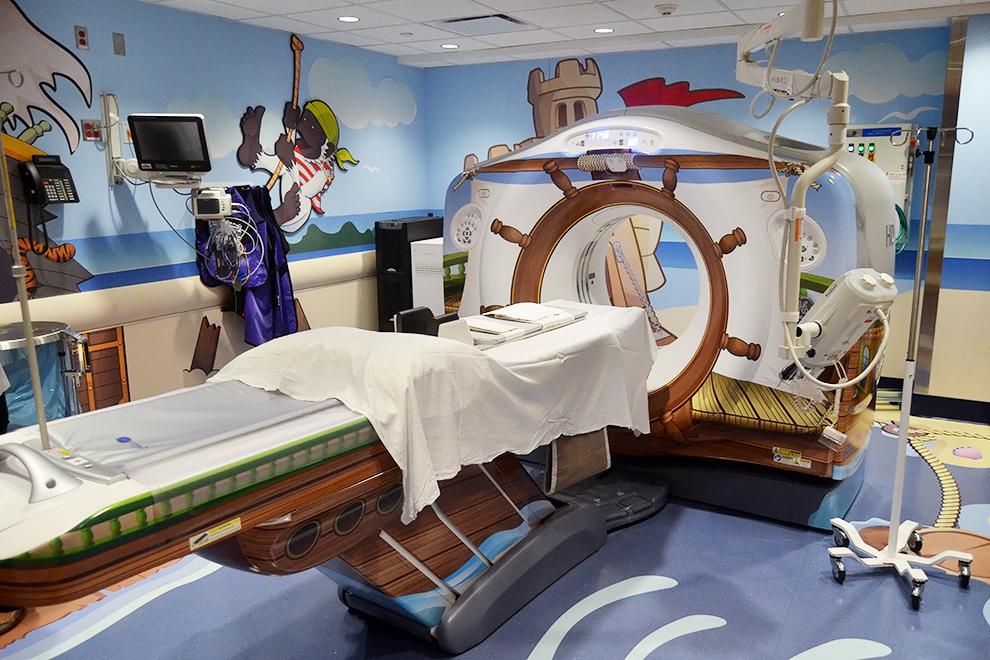 Sala de escáner de piratas
