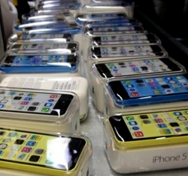 iphone 5C empaquetado
