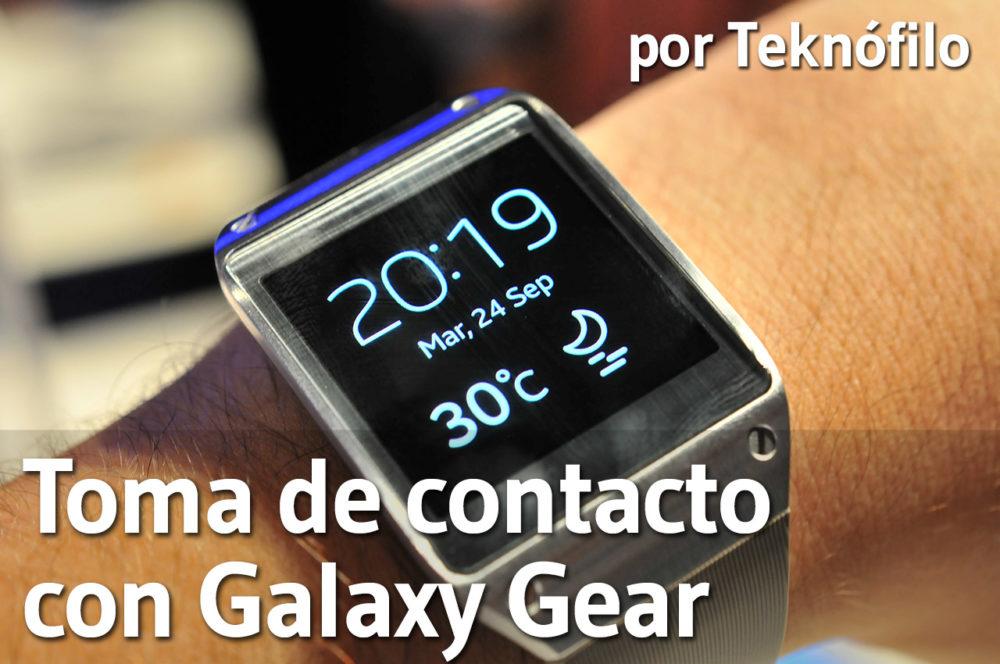 toma contacto galaxy gear