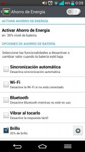 Ahorro batería LG G2