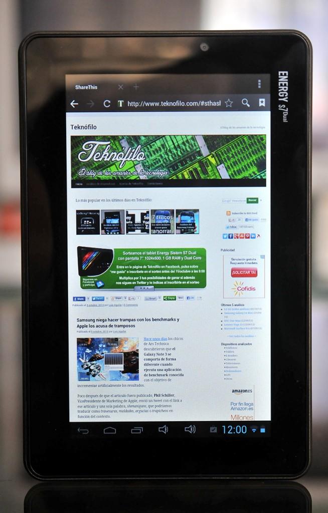 Energy Sistem S7 Dual - navegador