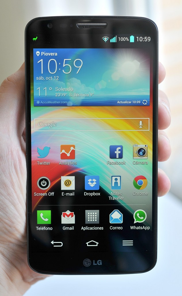 LG G2 en mano