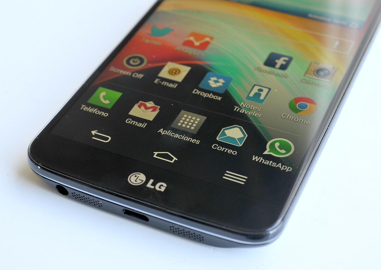 LG G2 en mesa