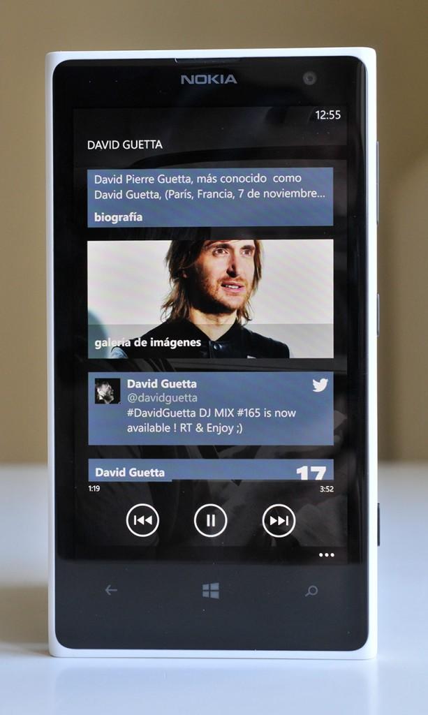 Nokia Lumia 1020 - musica
