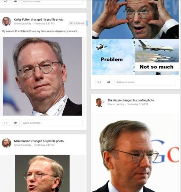 Google Plus Eric Schmidt