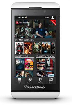 Nubeox en BlackBerry