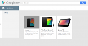 Nexus 5 en Google Play