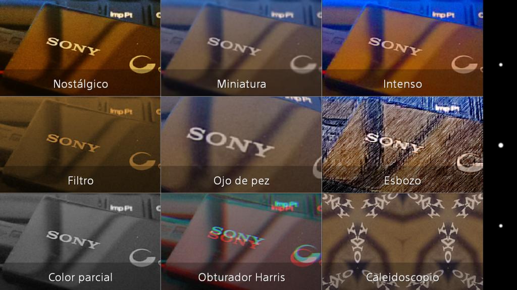 Modos de Sony Xperia Z1