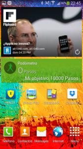 Widgets de notificaciones del Galaxy Note 3