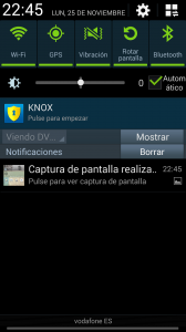 Panel de notificaciones del Galaxy Note 3