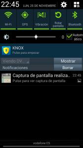 Panel de notificaciones del Galaxy Note 3