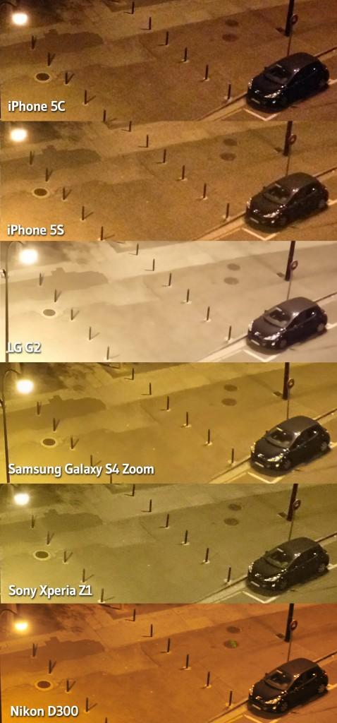 Comparativa poca luz coche