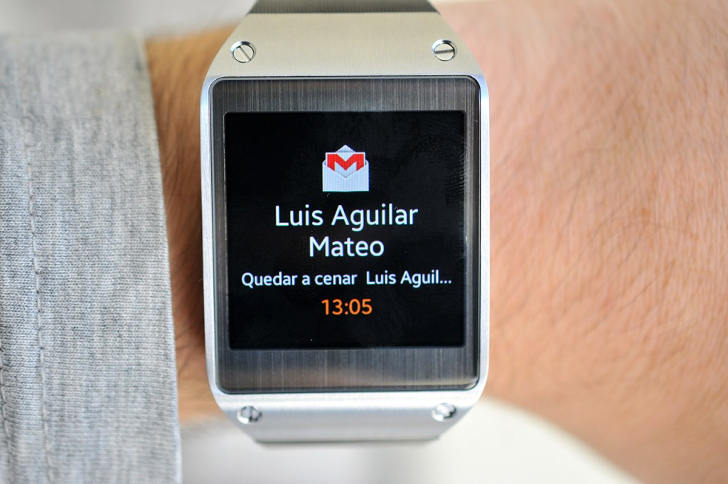 Galaxy Gear - Notificacion