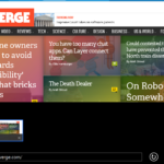 The Verge en Internet Explorer