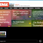 The Verge en Internet Explorer