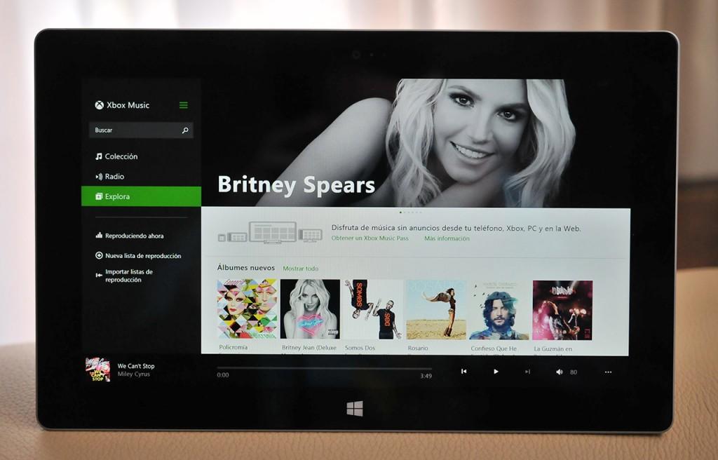 Microsoft Surace 2 - Xbox Music