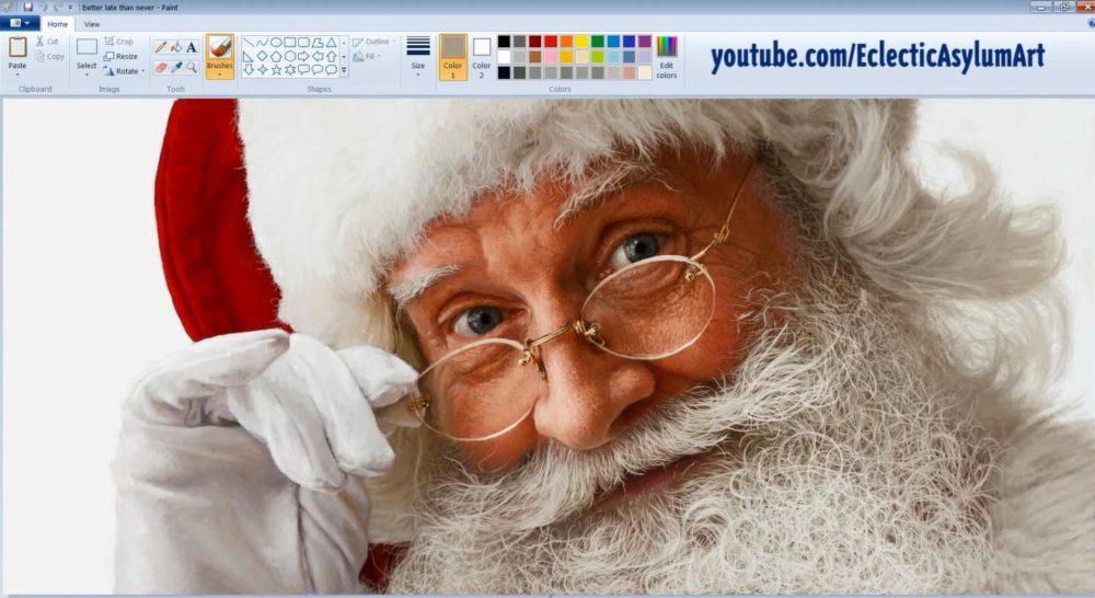 Santa Claus en MS Paint