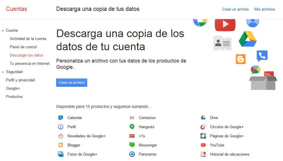 Descarga datos Google