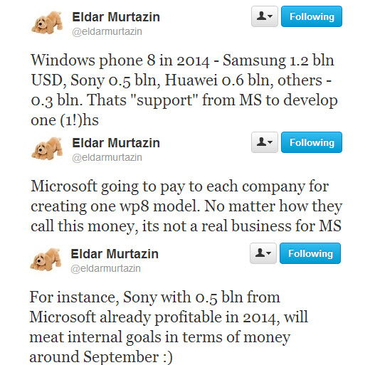 Pagos de Microsoft a fabricantes