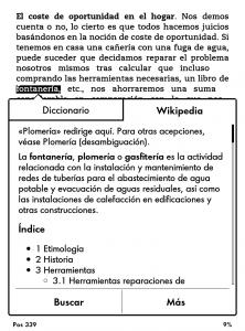 Diccionario en Kindle Paperwhite